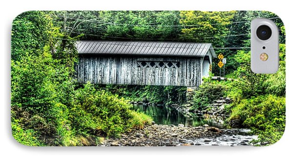 Comstock Covered Bridge IPhone Case by John Nielsen