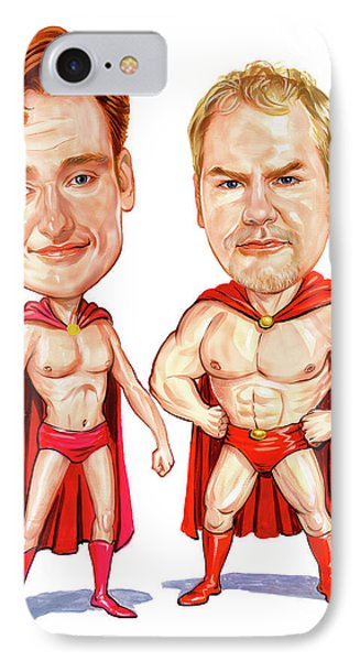 Conan  O'brien And Jim Gaffigan As Pale Force Phone Case by Art