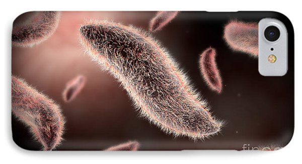 Conceptual Image Of Paramecium Phone Case by Stocktrek Images