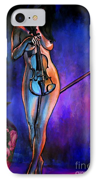 Concert At Night. IPhone Case by Andrzej Szczerski