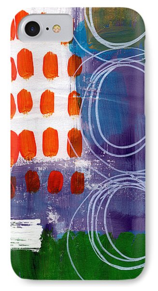 Concerto One - Abstract Art IPhone Case by Linda Woods