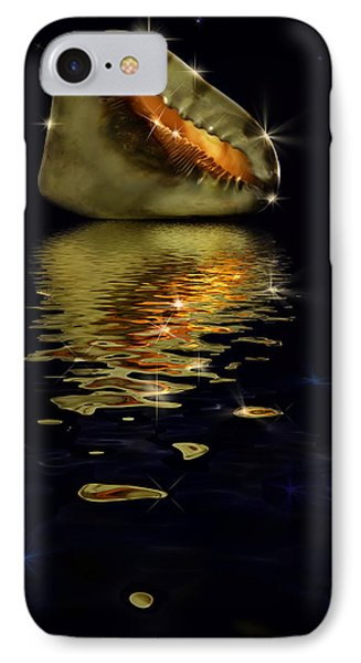 IPhone Case featuring the photograph Conch Sparkling With Reflection by Peter v Quenter