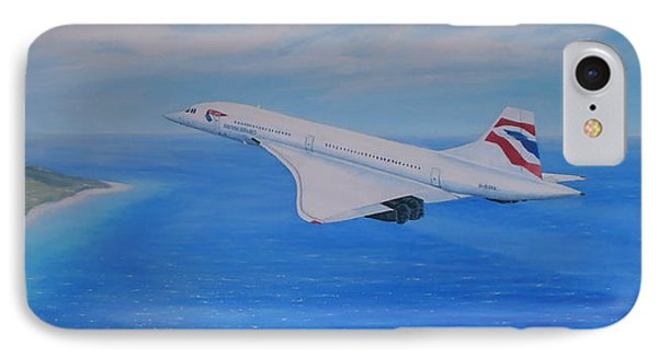 Concorde Over Barbados Phone Case by Elaine Jones