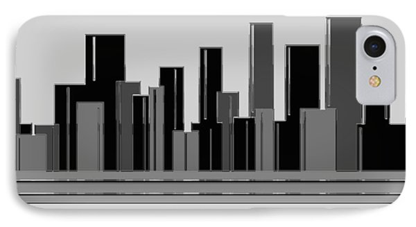 Concrete City   View From The Train Window IPhone Case by Sir Josef - Social Critic - ART