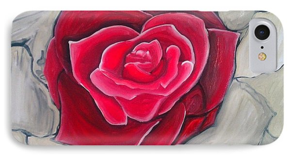 IPhone Case featuring the painting Concrete Rose by Marisela Mungia