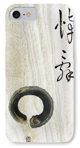 IPhone Case featuring the mixed media Condolences Tooji With Enso Zencircle by Peter v Quenter