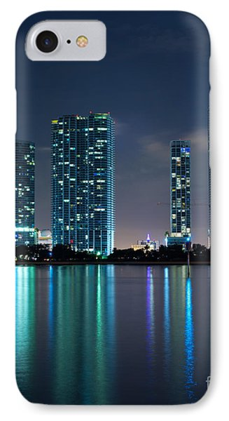 IPhone Case featuring the photograph Condominium Buildings In Miami by Carsten Reisinger