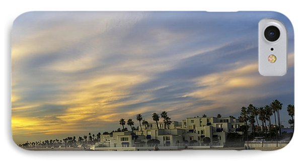 Condos On The Sand Near Huntington Beach Pier IPhone Case by Peter Dang