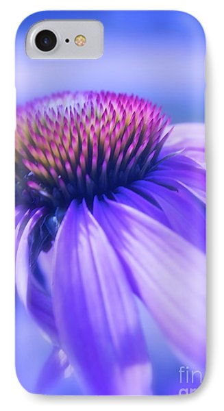 Cone Flower In Pastels  IPhone Case by Linda Bianic