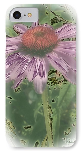 Coneflower Calling IPhone Case by Susan  Lipschutz