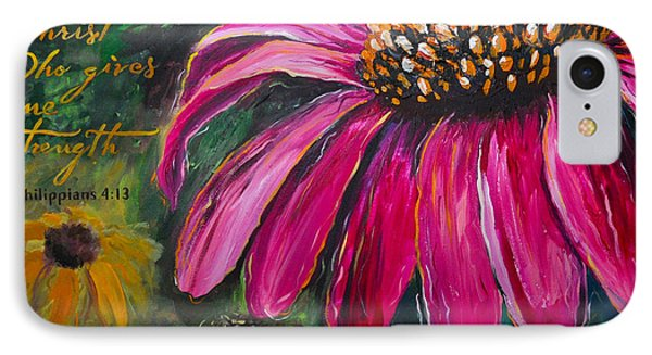IPhone Case featuring the painting Coneflower by Lisa Fiedler Jaworski