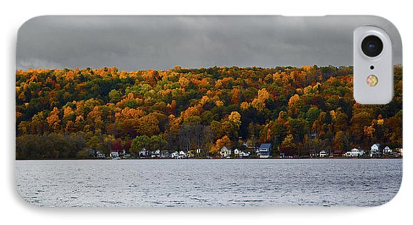 Conesus Lake Autumn IPhone Case by Richard Engelbrecht