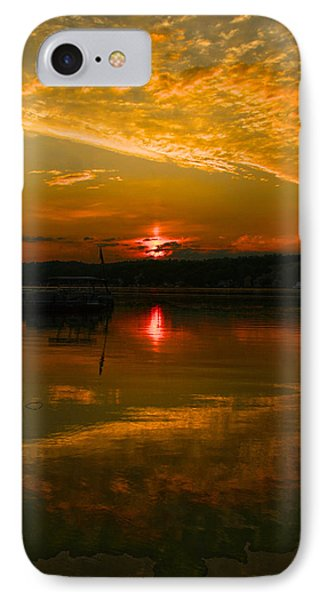 Conesus Sunrise IPhone Case by Richard Engelbrecht