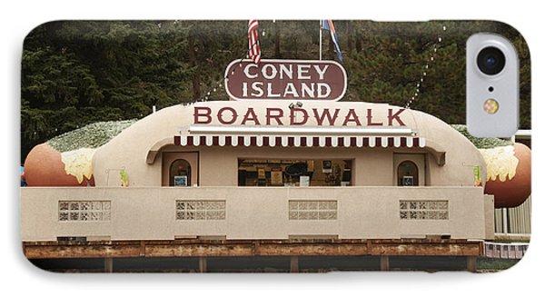 Coney Island Boardwalk IPhone Case by Juli Scalzi