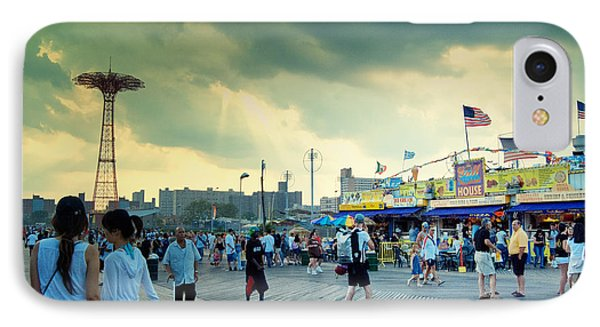 Coney Island Brooklyn New York City Phone Case by Sabine Jacobs