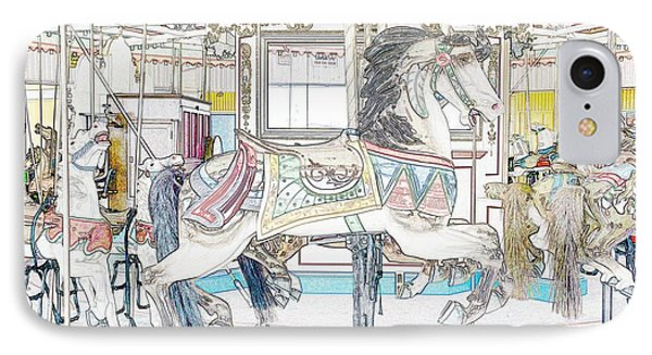 Coney Island Carousel IPhone Case by Lilliana Mendez