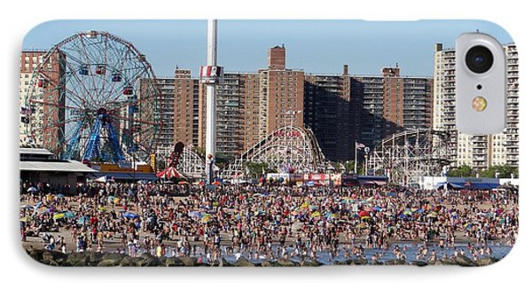 IPhone Case featuring the photograph Coney Island by Ed Weidman