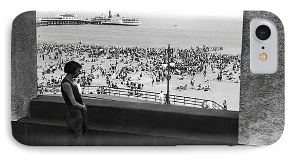 Coney Island In New York City IPhone Case by Underwood Archives