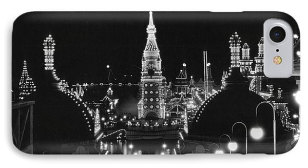 Coney Island - Nighttime Roller Coaster Phone Case by MMG Archives