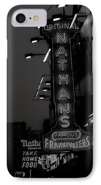 Coney Island Noir IPhone Case by Jon Woodhams