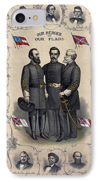 Confederate Leaders, C1896 IPhone Case by Granger