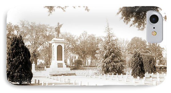 Confederate Monument, Magnolia Cemetery, Charleston IPhone Case by Litz Collection