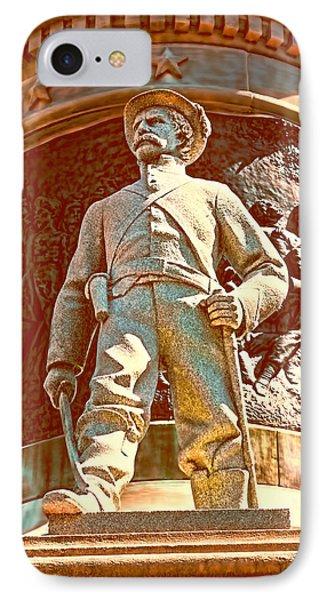 Confederate Soldier Statue I Alabama State Capitol Phone Case by Lesa Fine