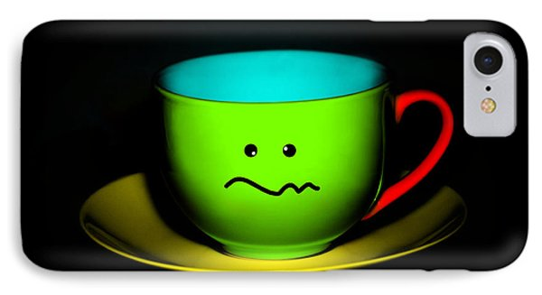 Confused Colorful Cup And Saucer Phone Case by Natalie Kinnear