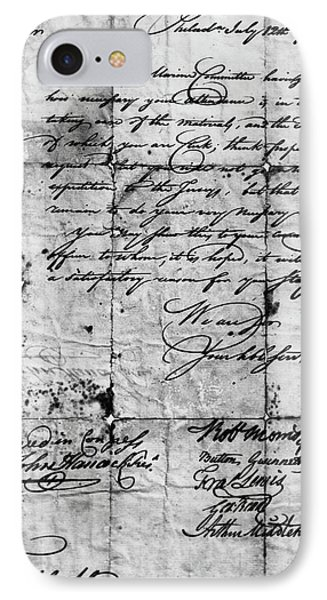 Congressional Document, 1776 IPhone Case by Granger