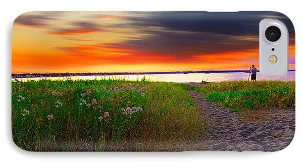 Conimicut Point Beach Rhode Island IPhone Case by Lourry Legarde