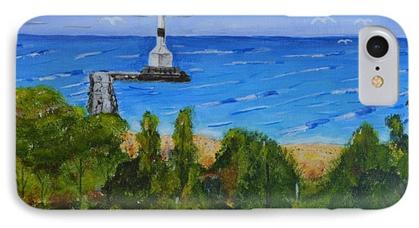 Summer, Conneaut Ohio Lighthouse IPhone Case by Melvin Turner