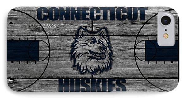 Connecticut Huskies IPhone Case by Joe Hamilton