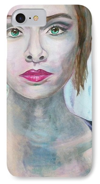 IPhone Case featuring the painting Connection by Anna Ruzsan
