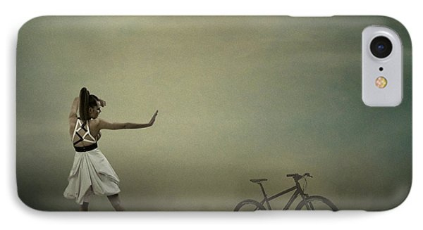 IPhone Case featuring the pyrography Conqueror Of The Bike by Evgeniy Lankin