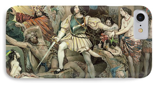 Conquest Of Mexico Hernando Cortes IPhone Case by Nicholas Eustache Maurin