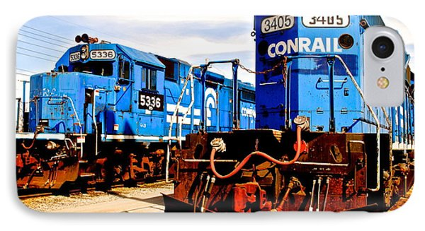 Conrail Choo Choo  Phone Case by Frozen in Time Fine Art Photography