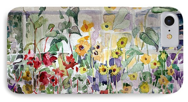 Conservatory Sunflowers IPhone Case by Mindy Newman