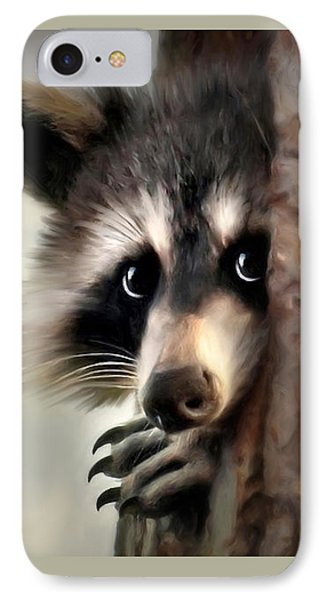IPhone Case featuring the mixed media Conspicuous Bandit by Christina Rollo