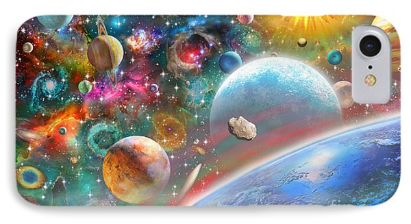Constellations And Planets IPhone Case by Adrian Chesterman