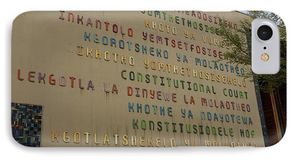 Constitutional Court Signage In All IPhone Case by Panoramic Images