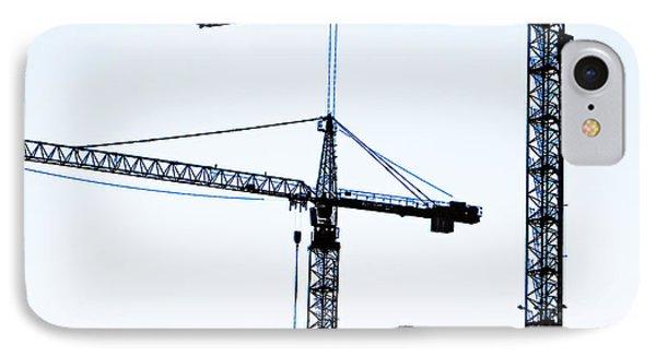 Construction Cranes IPhone Case by Antony McAulay