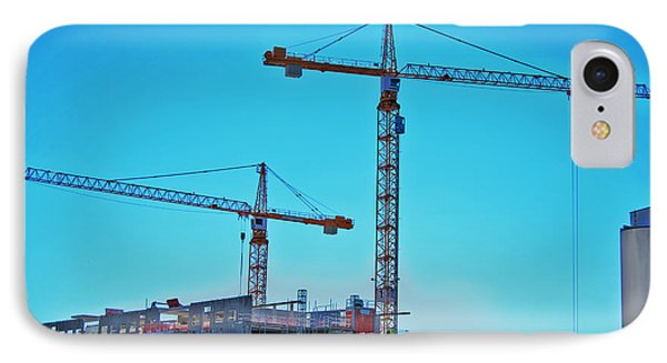 construction cranes HDR Phone Case by Antony McAulay