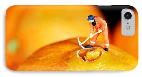 Construction On Oranges Phone Case by Paul Ge