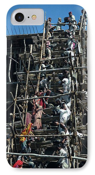 Construction Site In India Phone Case by Carl Purcell