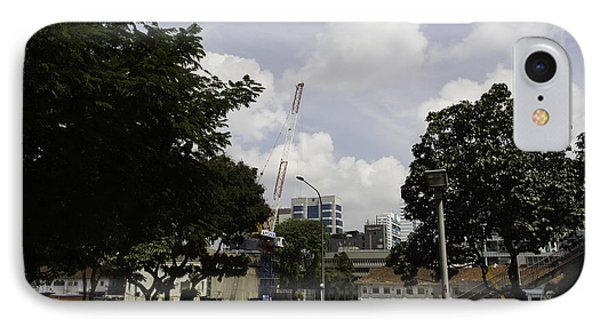 Construction Work Ongoing In Singapore Phone Case by Ashish Agarwal