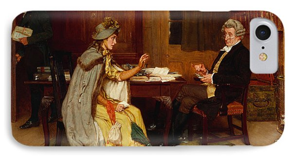 Consulting Her Lawyer Phone Case by Frank  Dadd