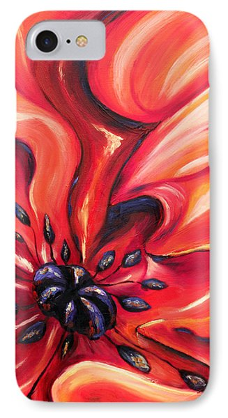 IPhone Case featuring the painting Consuming Fire by Meaghan Troup