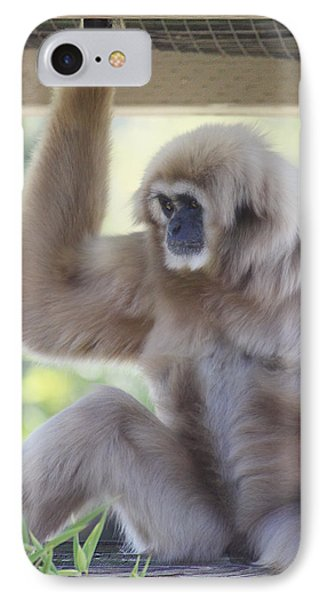 Contemplating Gibbon Phone Case by Melanie Lankford Photography