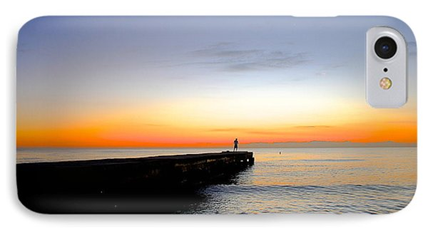 Contemplating The Meaning Of Life IPhone Case by Margie Amberge
