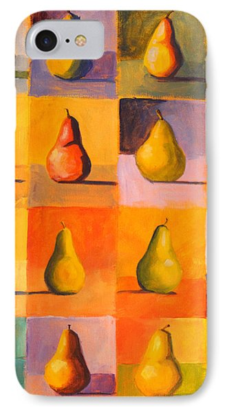 Contemplating The Pear IPhone Case by Nancy Merkle